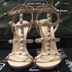 Studded Blush Pink Heeled Sandal